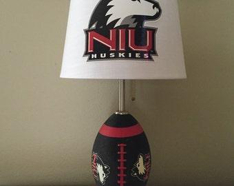 NIU football lamp