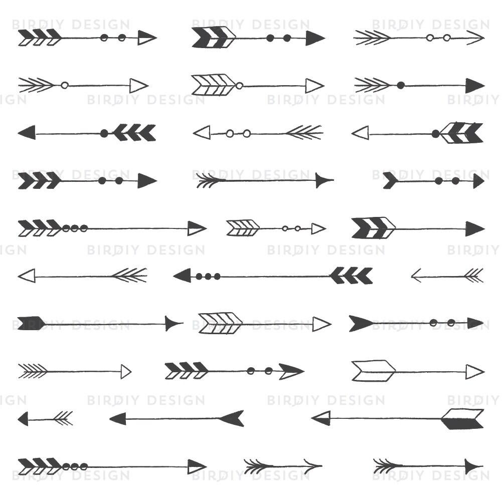 Edit A Line Or Arrow Line Arrow Wordart Picture Clip: Tribal Arrow Clipart