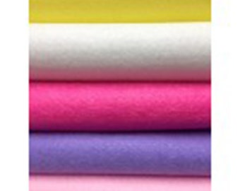 Pack of 5 Felt sheets- Princess colour range