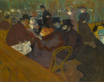 Henri de Toulouse-Lautrec:  At the Moulin Rouge. Fine Art Print/Poster. (002217)