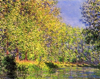 Claude Monet: A Bend of the River Epte, Giverny. Fine Art Print/Poster (00746)