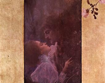 Gustav Klimt: Love. Fine Art Print/Poster (00647)