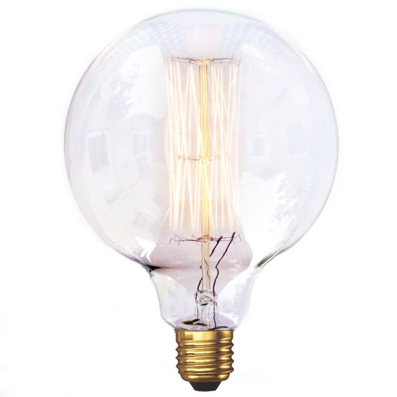 edison style vintage light bulb g125 super large globe. Black Bedroom Furniture Sets. Home Design Ideas