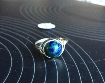 Lapis Wire Ring Size 7