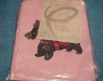 Appliance Cover With Scottie Dog Pink Plastic For Mixer With Paper