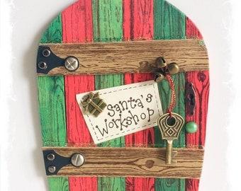 NEW Handcrafted Santa's Workshop Door / Fae Door / Mini Christmas Door / Elf Door
