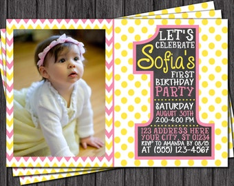 First Birthday Invitation - 1st Birthday Invitations