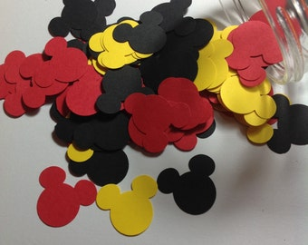Mickey Mouse, confetti, Mickey confetti, Mickey cut outs, PGM0022