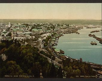 View of Podol II, Kiev, Russia, (i.e., Ukraine)] 1890. Vintage photo postcard reprint 8x10-up.
