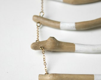 SALES- Nurit - Handpainted driftwood necklace