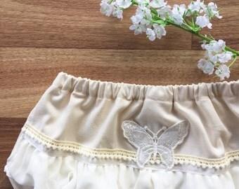 Vintage bohemian style bloomers | sz 000-3 | boho bloomers, ruffle bloomers, ruffle diaper cover, ruffle nappy cover, boho nappy cover,