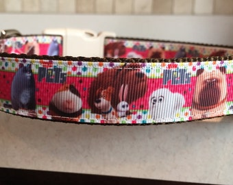 Secret Life of Pets Dog Collar with optional matching leash