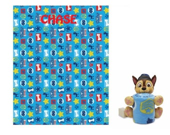 PAW Patrol CHASE Hugger Pillow & Throw Set - Personalized