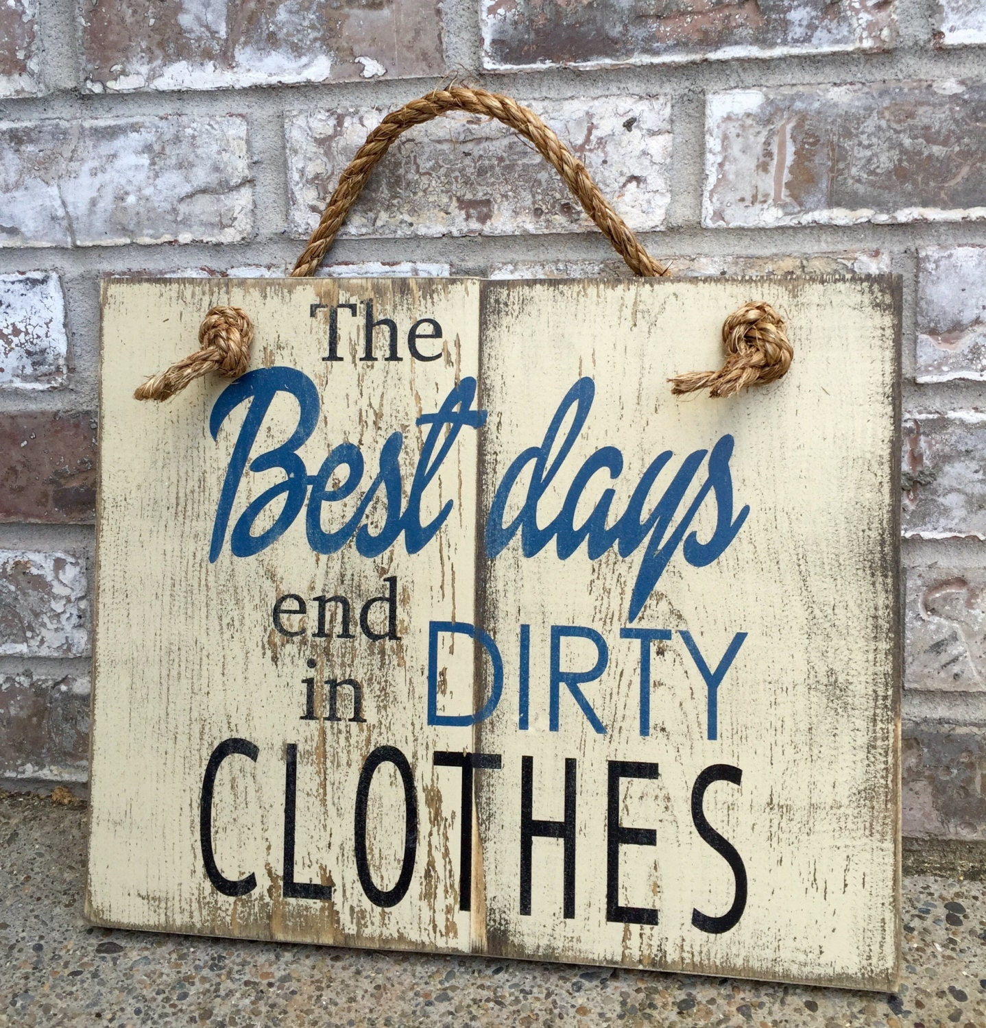 Clothes Wash Signs: Dirty Clothes Rustic Sign Bathroom Decor Laundry By