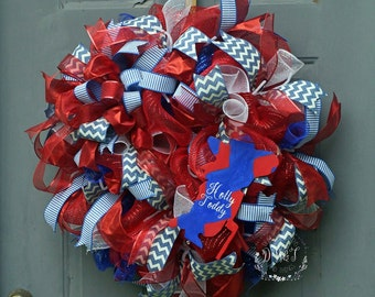 Ole Miss Wreath, University of Mississippi, Rebels Wreath, College wreath, Colonel Reb Wreath, Ole Miss Decor, Hotty Toddy Wreath, Ole Miss