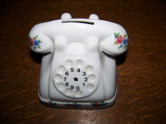 Items Similar To Vintage Reutter Porzellan West Germany Rotary Dial Telephone Piggy Bank With