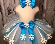 Frozen Queen Elsa Inspired Tutu,Disney Elsa Tutu,Queen Elsa Tutu,Frozen Themed Tutu,Handmade Frozen Tutu,Snowflakes Tutu,Handmade Tutu