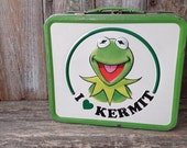 Retro Kermit Metal LunchBox, Vintage School Lunch Box The Muppets