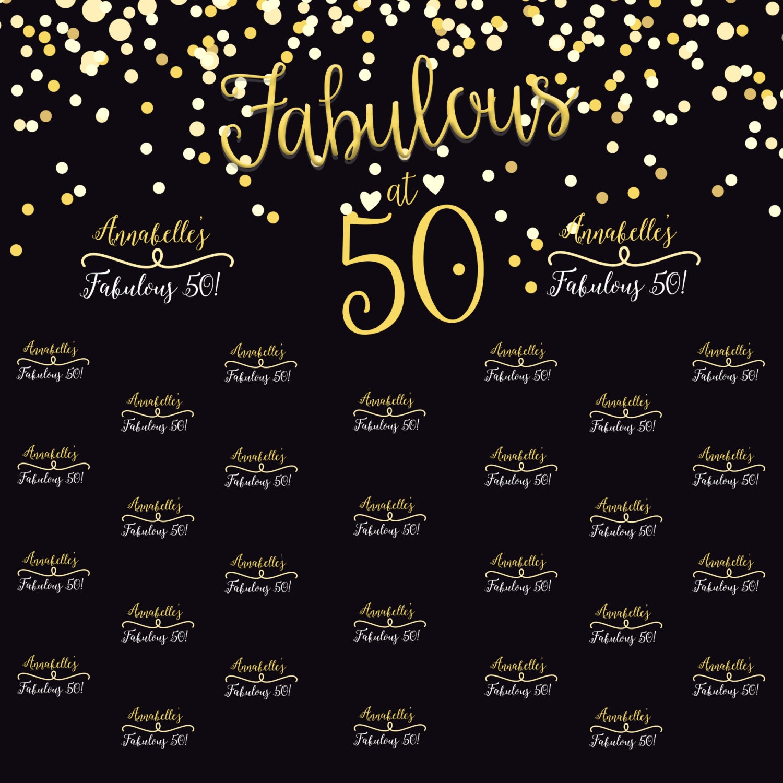 50 And Fabulous Backdrop