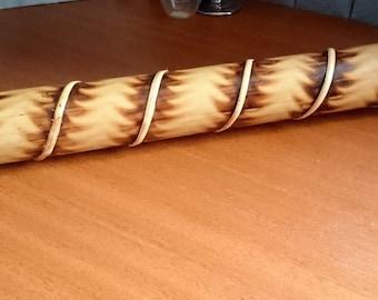 "Authentic Bamboo Rain Stick Shaker Traditional Roasted Burns Rain maker Decorative Wooden Bamboo Rainstick, Length 20"" #156"