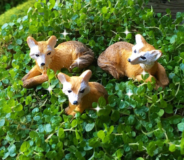 Fairy garden foxes miniature garden fox fairy garden for Garden animals