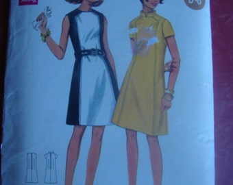 Butterick #4795 Vintage A-Line Dress 34 Bust