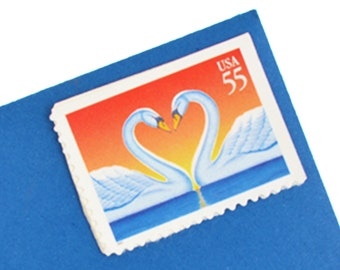 20 Love Swans Postage Stamps - 55c - 1997 - Unused - Quantity of 20