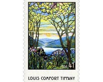 20 Louis Comfort Tiffany Stamps - 41c - 2007 - Unused Postage - Magnolias and Irises - Quantity of 20