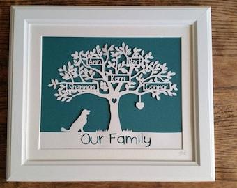 Deluxe Family Tree Papercut (Framed)