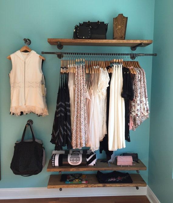 48 Floating Shelves Retail Fixture Rustic Pipe Shelf