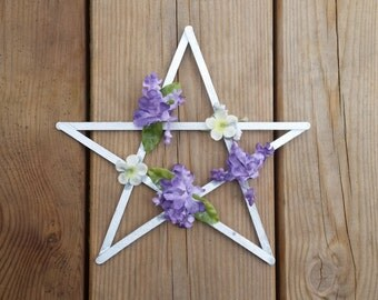 Beltane pentagram, Beltaine altar decor, spring pentagram, May Day spring flowers, wiccan sabbat decor, seasonal decor, pagan gifts