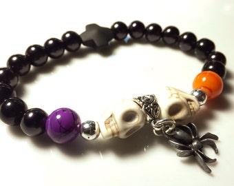 Skulls & Spider Bracelet