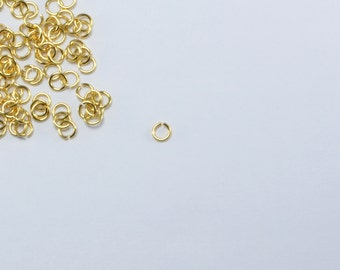 5 Grams (430pcs Approx) 3mm Gold Plated Stainless Steel Jump Rings, 0.5mm x 3mm, 24 Gauge Open Rings #SD-S8333