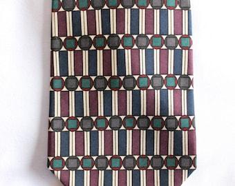 Vintage Albert Nippon Silk Tie. Mens ties, neck ties, silk ties, geometric pattern ties. Excellent gift