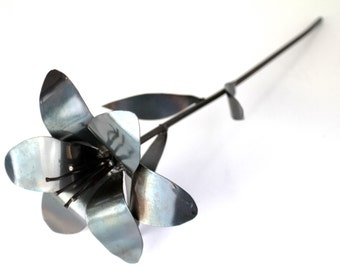 Metal Lily, 11th Anniversary, 6th Anniversary, 4th Anniversary, Wedding Bouquet, Wedding Flowers, Bridesmaid Bouquet