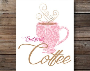 Funny Coffee Quote Printable Office Poster Download Coffee