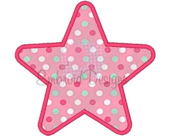 Star Applique Machine Embroidery Design 034514 Applique Star 2X2 4X4 5X7 6X10 Instant download