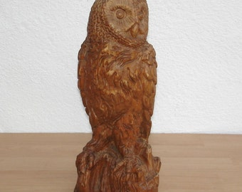 Carved wood OWL around 1970