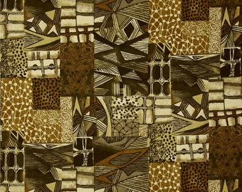 Brown Tonal Fabric | Jakarta Abstract Brown | fabric Fat Quarter