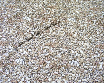 Natural Danscapes Fabric~Collage of Pebbles~Small Rocks~By the 1/2 yd~RJR~Dan Morris