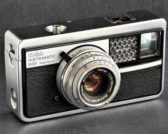 Kodak Instamatic 500 Camera Type 048 w 38mm f/2.5 Schneider-Kreuznach Xenar Lens 126 Film