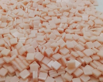 Resin mosaic tiles, 5x5 mm / 1.5mm thick, Opaque effect, Soft Pink