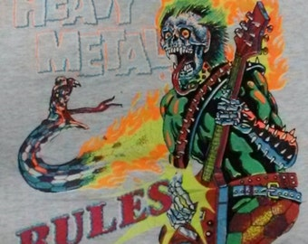Vintage Heavy Metal Rules Virginia Beach Screen Star Style 90s 80s