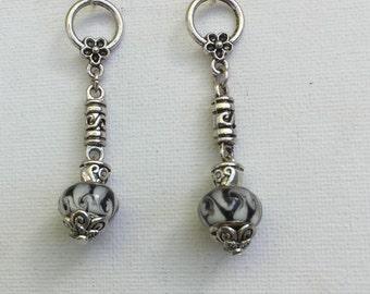 Long Murano bead Earrings