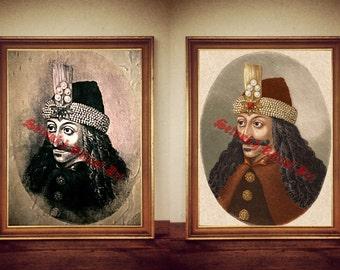 245# Vlad the Impaler print, Vlad Tepes poster, Dracula print, Dracula poster, Vampire Print, Vampyre Poster, Transilvanian decor, portrait