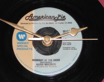 "Maria Muldaur midnight at the oasis  7"" vinyl record clock"