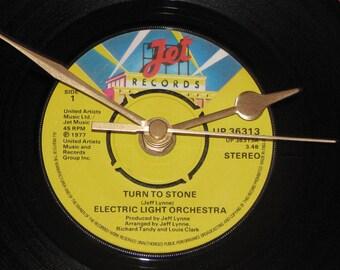 "ELO turn to stone  7"" vinyl record clock"