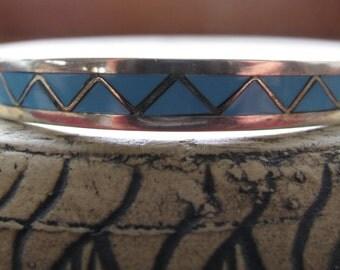 Sterling Turquoise bracelet, Vintage