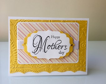 Mother's Day Card, Yellow Mother's Day Card, Floral Mother's Day Card