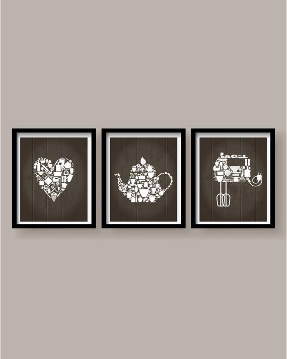 Kitchen Decor Kitchen Wall Art Kitchen Print By Blackpelican